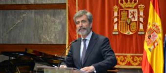 """El presidente del Tribunal Supremo y del CGPJ destaca que la mediación es clave"""" para la modernización de la Justicia"""