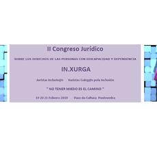 Presentación del programa: II Congreso Jurídico In.Xurga sobre los derechos de las personas con discapacidad y dependencia en Pontevedra el 19-20-21 febrero 2019