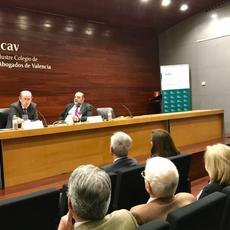 La huelga de jueces y fiscales se debate en  el ICAV a través de una ponencia de Tomás Sala Franco