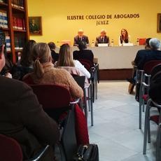 """Daniel Loscertales en Colegio de Abogados de Jerez: Lo primero que tienen que mirar los abogados es la fecha del contrato de alquiler"""""""