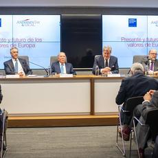 La actitud exigente de las instituciones comunitarias y los Estados miembros al promover los valores permitirá salvar la síntesis europea