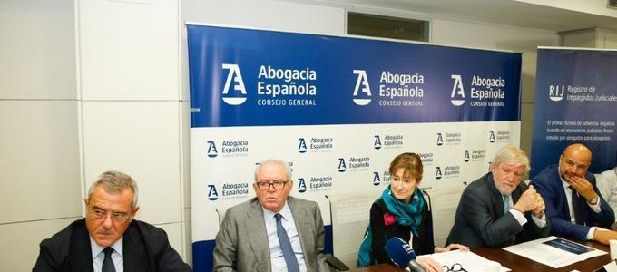 La Abogacía Española, a la vanguardia en la lucha contra la morosidad, con la creación del primer Registro de Impagados Judiciales