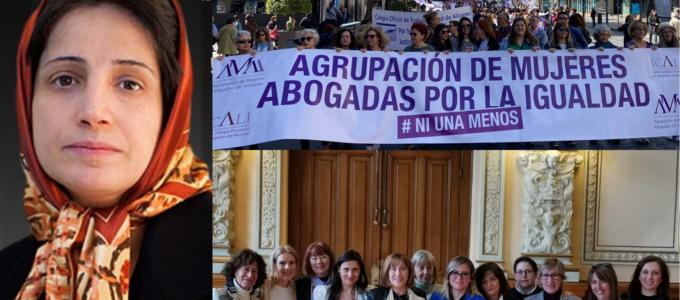La Agrupación de Mujeres Abogadas de Valladolid y del ICA de Alicante y la abogada iraní Nasrin Sotoudeh, I Premios Igualdad de la Abogacía