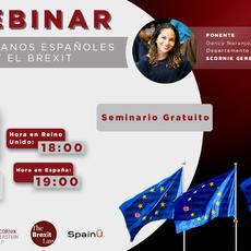 Webinar: ciudadanos españoles y el BREXIT