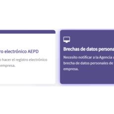 Nuevo formulario de notificación de brechas de datos personales