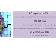 El Congreso jurídico sobre los derechos de las personas con discapacidad y dependencia se celebrará en Pontevedra los días 21 y 22 febrero 2018