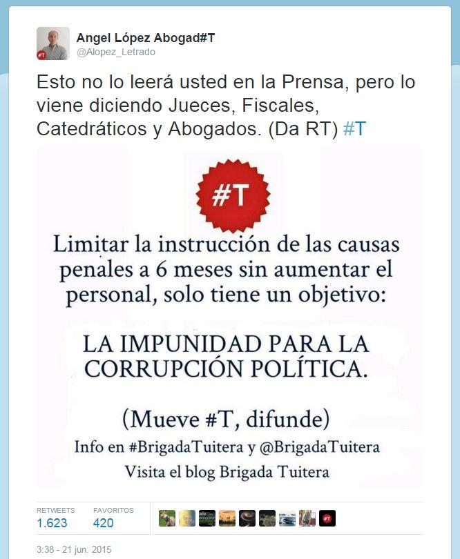 instrucción penal tweet1