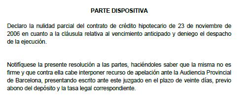 Juzgado de primera instancia sw Barcelona
